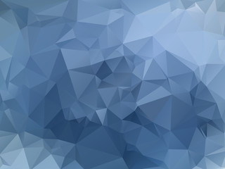 Blue abstract polygonal background.
