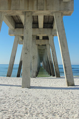 Navarre Beach Fishing Pier Underneath