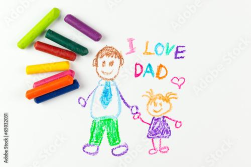 Leinwanddruck Bild Happy father's day
