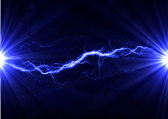 Blue electrical discharge - lightning background