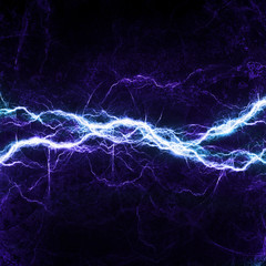 Blue lightning - abstract electrical background