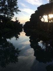 tramonto sul canale