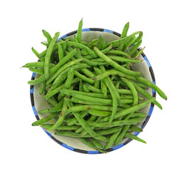 Green Beans In Bowl Top View