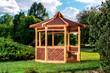 Outdoor wooden gazebo - 65034019