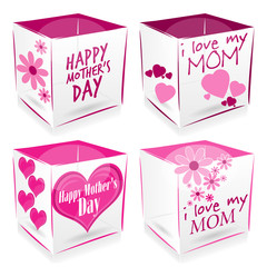 4 cube happy mother's day