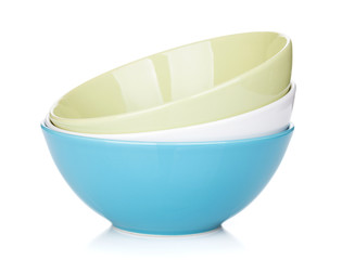 Colorful empty bowls