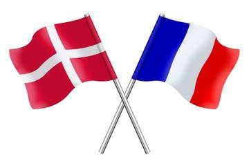 Drapeaux : Duo Danemark, France
