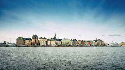 Panorama of Old Town in Stockholm