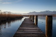 Leinwanddruck Bild - Morgenstimmung am Chiemsee