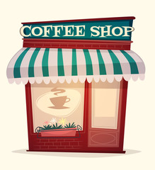 Coffee background. Vector image