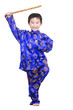 Cute boy wearing  traditional Chinese garment