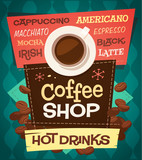 Coffee background. Vector image - 65035898