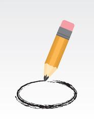Large pencil drawing a circle