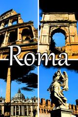 Rome Comic Collage