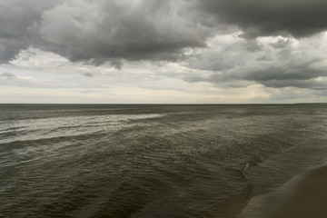 Dark Baltic sea.