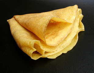 close up of original style crepes