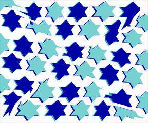 bandiera con stelle azzurre