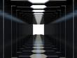 Futuristic dark corridor