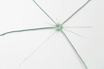 broken glass with cracks