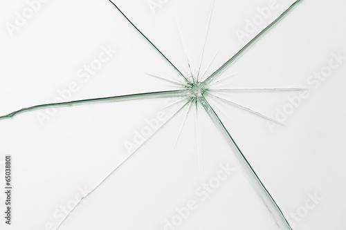 broken glass with cracks - 65038801