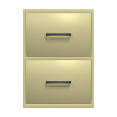 Filing Cabinet on White