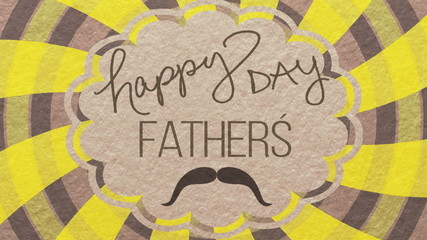 Fathers day card animated.