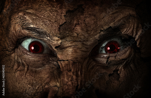 canvas print picture demonic ugly face