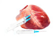 heart and syringe isolated