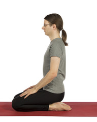 Man in Hero Pose in Yoga