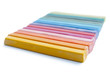 oil pastels organized like a rainbow