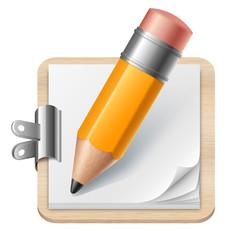 Crayon et planche à dessin vectoriels 1