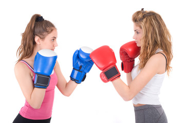 kickboxing girls fight