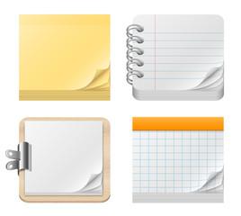 Blocs-notes vectoriels 1