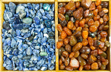 Background of semiprecious stones