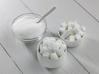 Three types of sugar