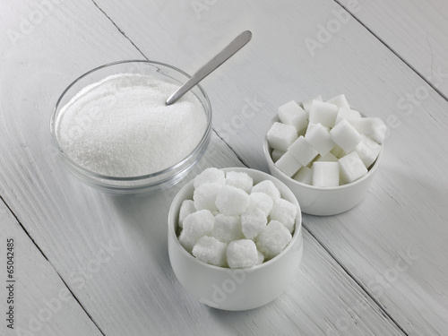 Three types of sugar