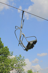 Chair of rope suspended road