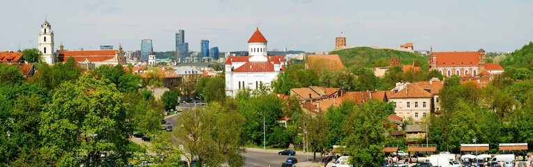 Bird's eye view of Vilnius, new and old