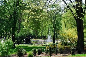 Uzupis park in Vilnius city on May. Lithuania