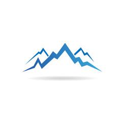 Mountains peaks image logo
