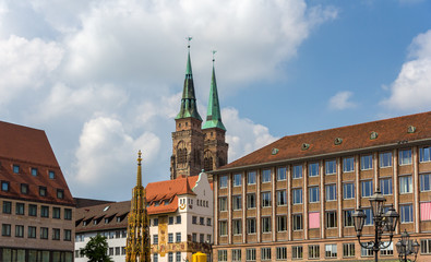Hauptmarkt, the central square of Nuremberg
