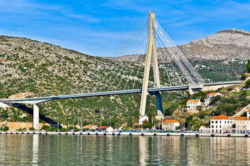 The Franjo Tudjman Bridge in Dubrovnik, Croatia