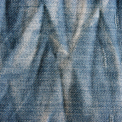Jeans texture with scuffed.