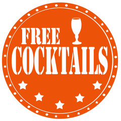 Free Cocktails-label