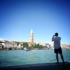 Venice, young photographer