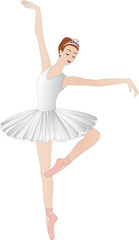 Ballerina isolated on white