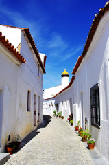 Street of Moura village, Portugal
