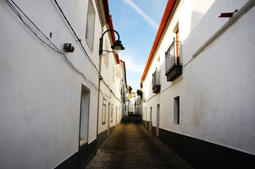 Street of Serpa village, Portugal