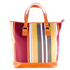 Bag with colour strips