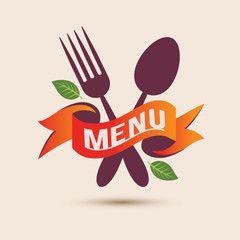 spoon and fork menu ribbon